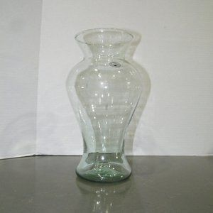 "NWT Hand Blown Glass  Vase Round 11"" Tall"